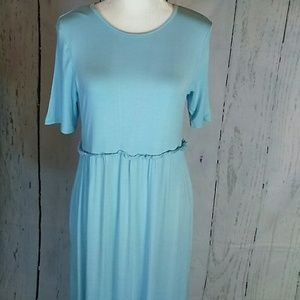 Robin egg blue long maxi dress NWT